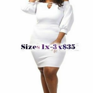 Dresses & Skirts - Puffy Sleeve Dress with Strappy V-Neck